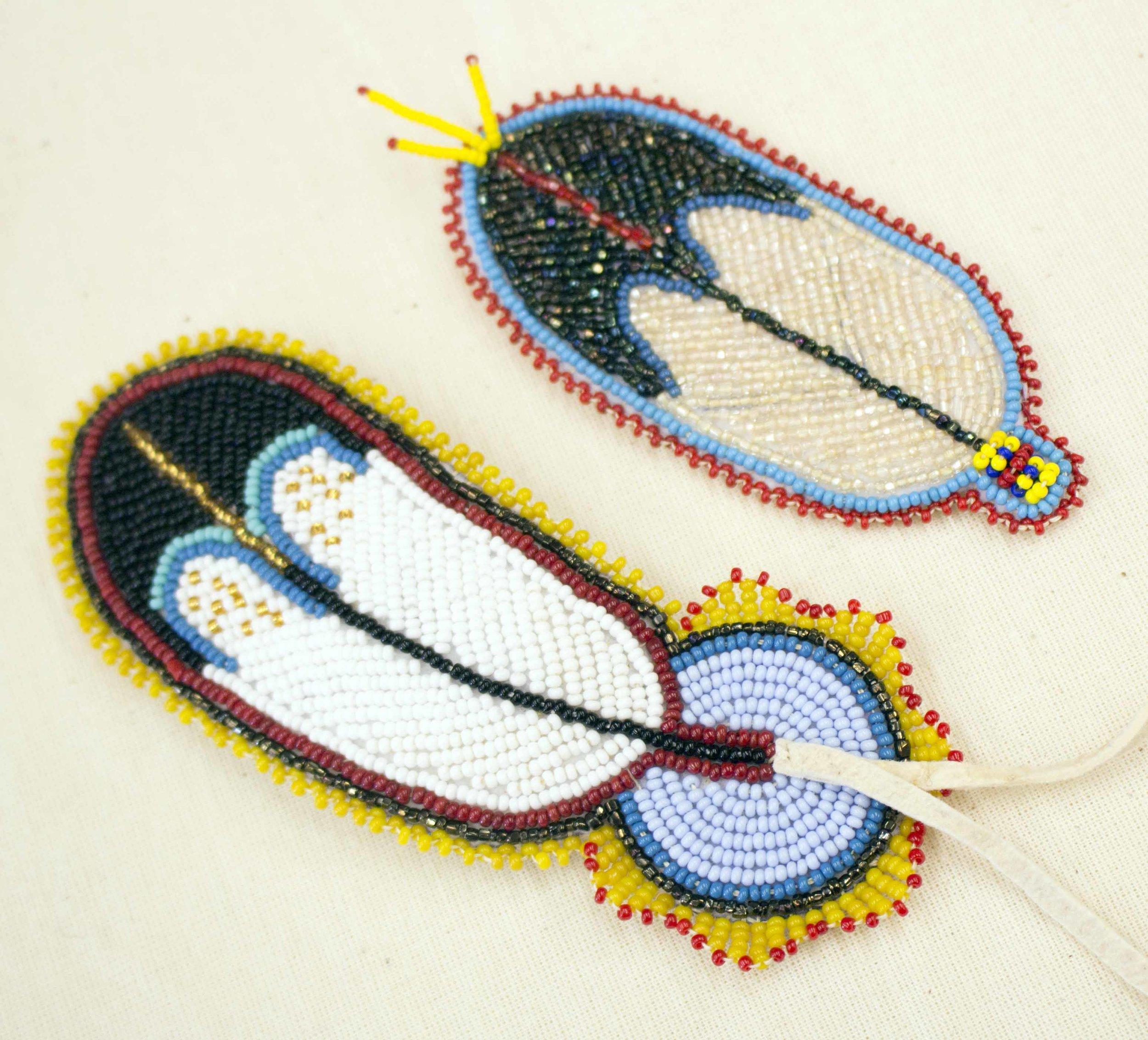 Make a Beaded Feather or Rosette